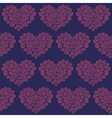 hearts made of roses seamless pattern vector image