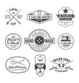 Set of tailor emblem signage vector image