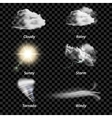 Realistic Colored Weather Icon Set vector image
