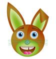 Cute bunny toy vector image vector image