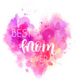 mothers day holiday heart vector image vector image