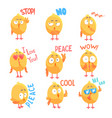 cute cartoon comic chickens characters with vector image
