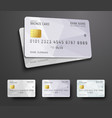 templates for design of a credit debit bank card vector image