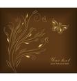 Gold wedding greeting card vector image