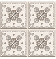 Brown ceramic tile vector image vector image