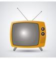 Retro television design vector image