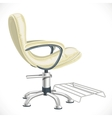 Barber chair isolated on white background vector image