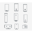 Boiler liner icons vector image