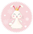 bunny girl cute princess on vector image