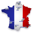 France soccer stadium map vector image