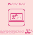 laptop with customer support vector image