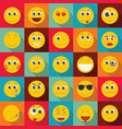 smile icon set flat style vector image