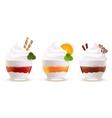 Sweet summer desserts set vector image