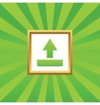 Upload picture icon vector image