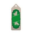 tag eco green vector image