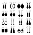 set of earrings vector image