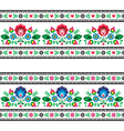 Seamless Polish folk pattern with flowers vector image