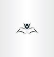 study icon kid reading book vector image