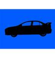 Sport sedan silhouette vector image vector image