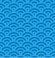 blue fish scale background of concentric circles vector image