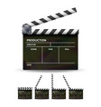 clapper board black cinema clapper vector image
