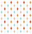 Colorful Curved Diamonds Pattern vector image