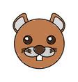 cute beaver drawing animal vector image