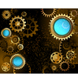 Dark Background with Gears vector image