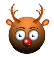 happy reindeer emoji vector image