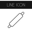 isolated rolling pin outline dough element vector image