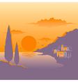 Mediterranean sunset vector image