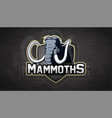 modern professional mammoth logo vector image