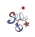 Sea Lettering Color vector image