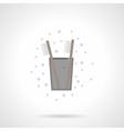 Teeth hygiene flat color icon vector image