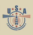 usa presidential elections emblem vector image