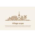 village scape thin flat design vector image