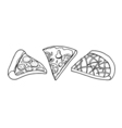 Pizza slice drawing vector image