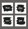 trendy hand drawn cards vector image