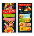 fast food restaurant template menu vector image