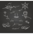 Steampunk chalk board vector image