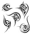 Tribal art set vector image