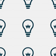 Light bulb icon sign Seamless pattern with vector image