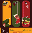 price tags for christmas vector image