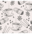 Seamless coffee and spice vector image