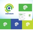 Corporate business abstract circle logo set vector image