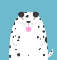 cute big fat Dalmatian dog vector image