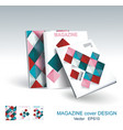design of business brochure magazine flyer vector image