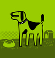 Dog in green vector image