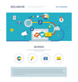 one page web design template of digital marketing vector image