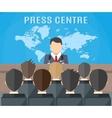 Press conference world live tv news vector image